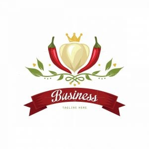 Spicy Garlic Symbol Logo