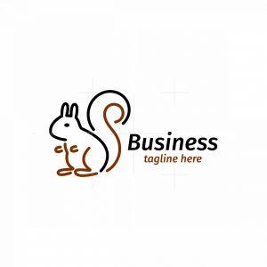 Minimal Squirrel Logo