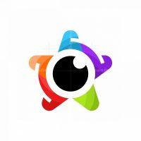 Star Lens Modern Colorful Logo