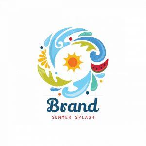Summer Splash Symbol Logo
