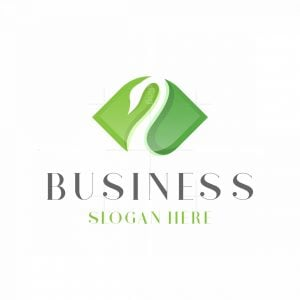 Swan Leaf Nature Logo
