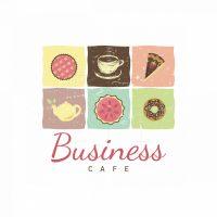 Sweet Breakfast Cafe Symbol Logo
