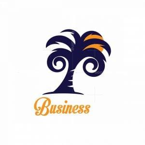 Swirly Palm Symbol Logo