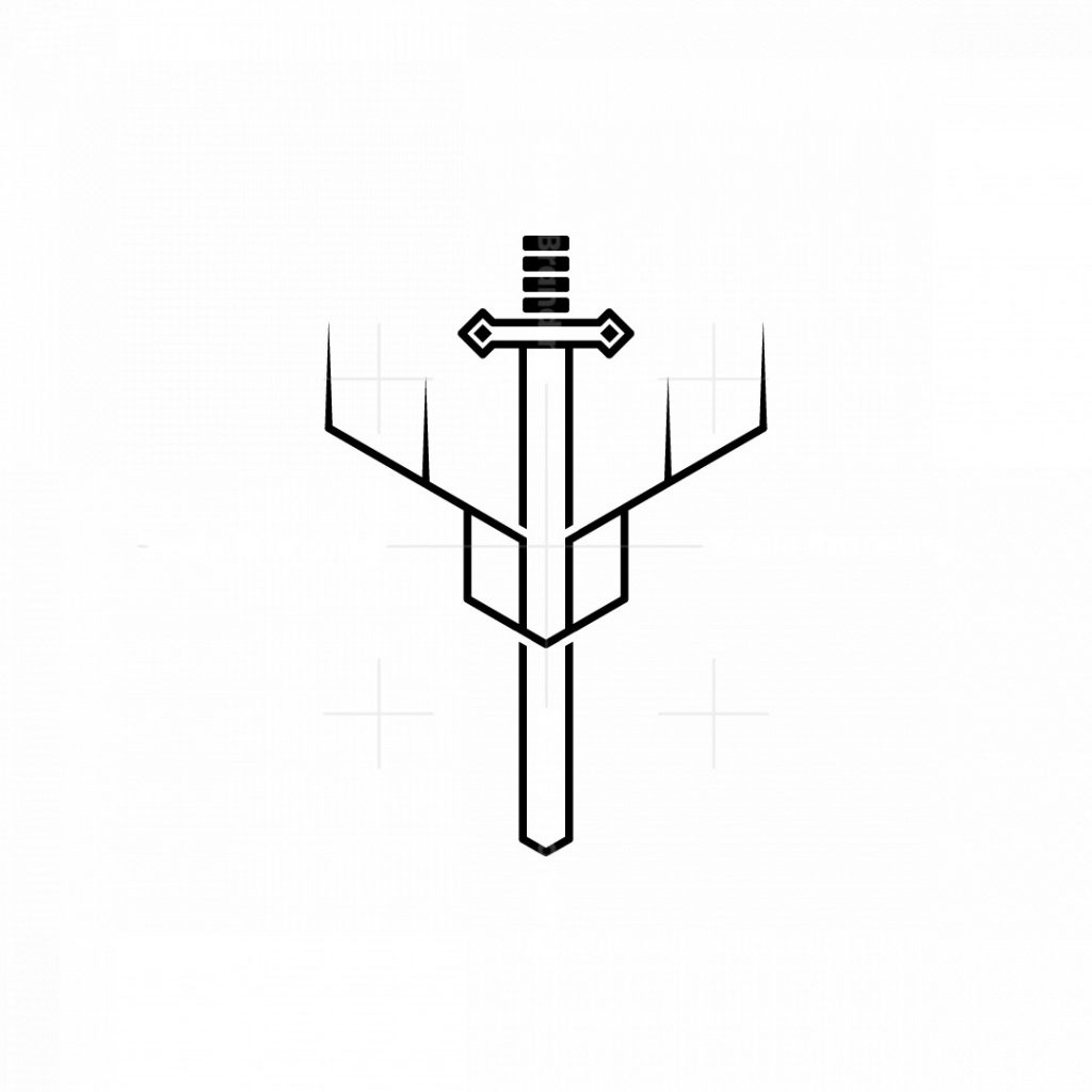 Holy Sword And Shield Of Deer Logo
