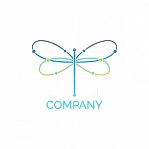 Dragonfly Tech Minimalist Logo