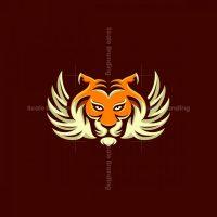 Tiger Wing Fly Mascot Logo