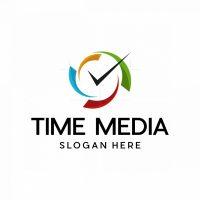 Time Media Modern Logo