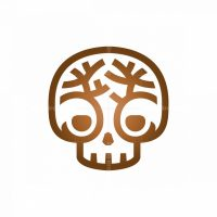 Nature Tree Skull Logo