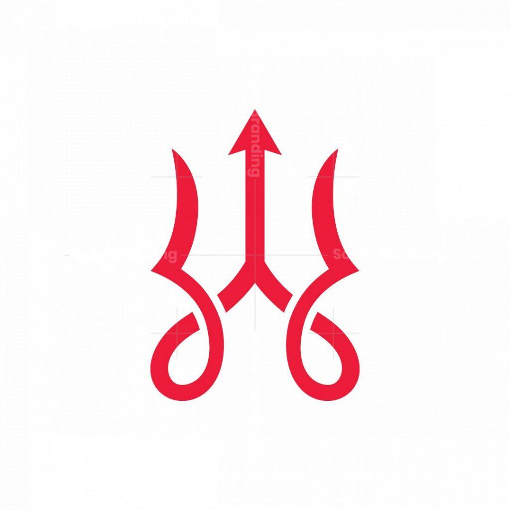 Calligraphy Trident Logo