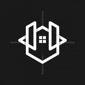 Letter U Home Monoline Logo