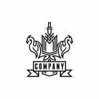 Dragon Coat Of Arms Logo
