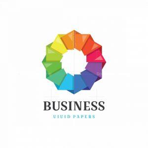 Vivid Papers Symbol Logo