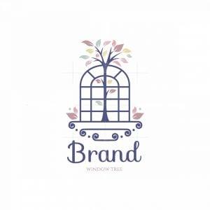 Window Tree Symbol Logo