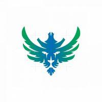 Crowned Winged Lion Logo Lino Head Logo