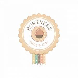 Winning Cupcake Bakery Symbol Logo