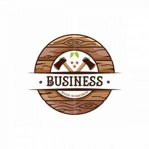 Wood Workshop Symbol Logo