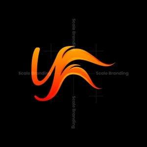 Letter Yf Fire Logo