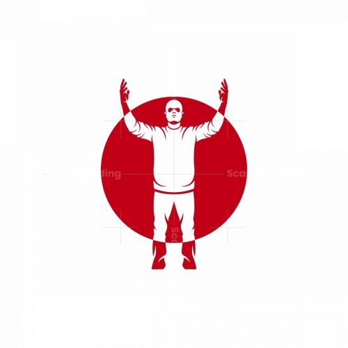 Man With Raised Hands Logo