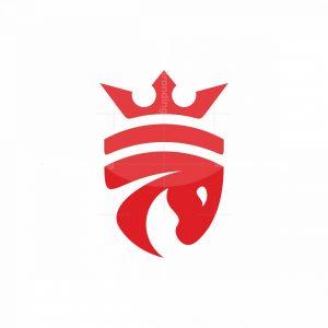 Horse King Shield Logo