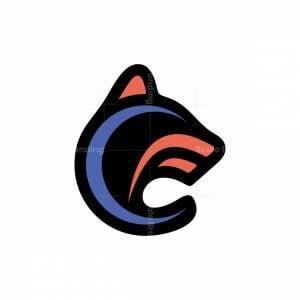 Letter Cf Wolf Logo