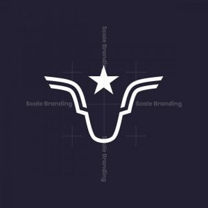 Winged Or Horned Animal Logo