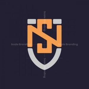 Shield Letter Ns Logo