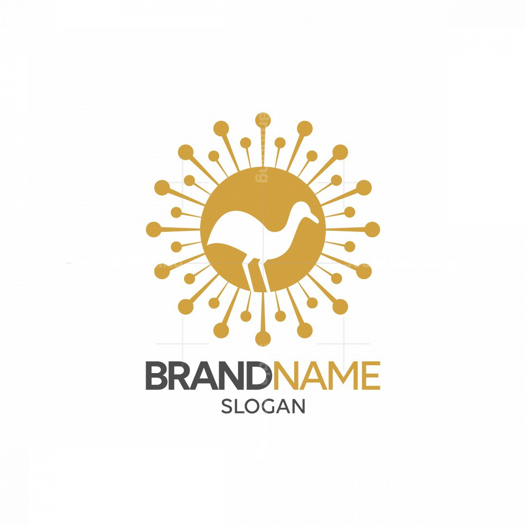 Bird Flower Logo