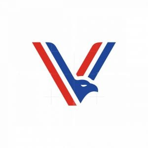 Letter V Eagle Logo