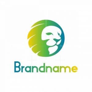 Lion Head Sphere Logo