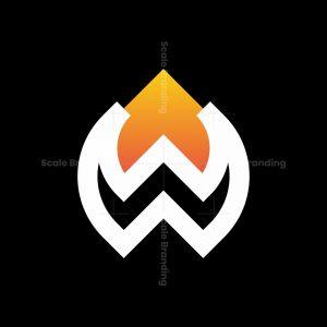 Letter Ww Fire Logo