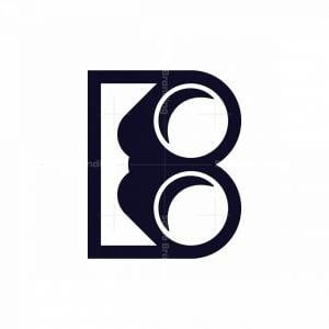 Binoculars Letter B Logo