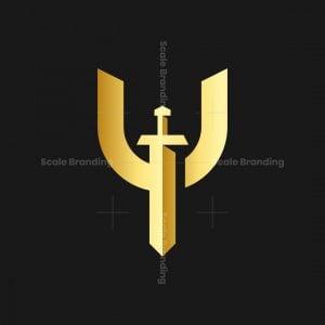 Letter Y Sword Logo
