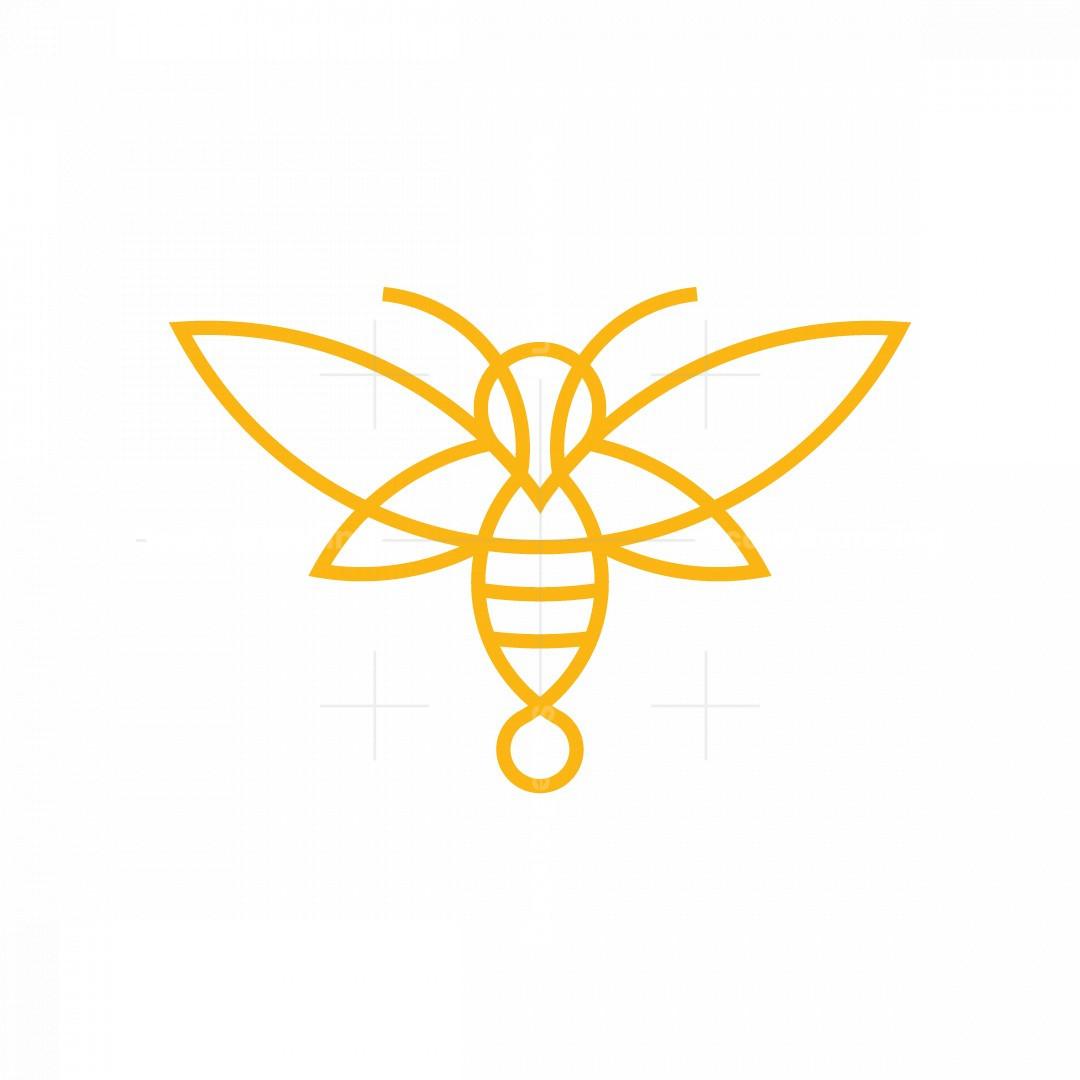 Lineart Bee Logo
