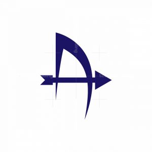Shooting Bow Letter A Logo