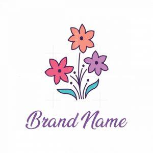 Three Flowers Logo