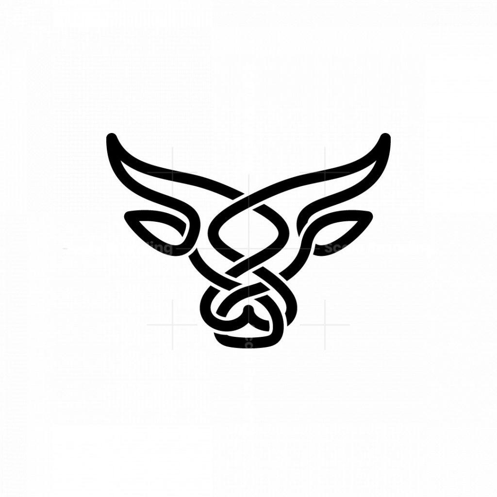 Minimalist Bull Head Logo