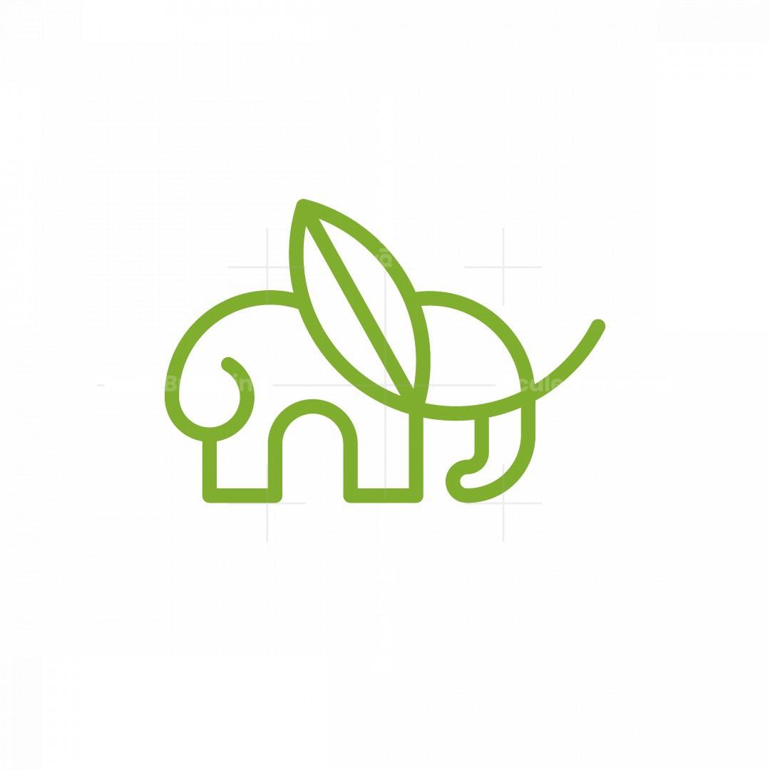 Leaf Elephant Logo