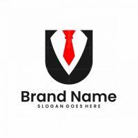 Letter U Tuxedo Logo