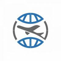 Plane Globe Logo