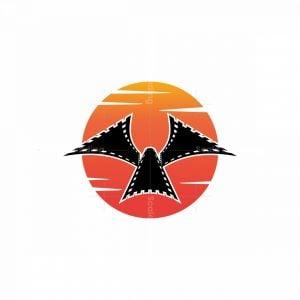 Abstract Bird Movie Logo