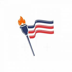American Torch Flag Logo