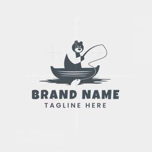 Bear Fishing Logo