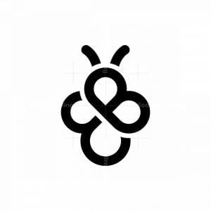 Bee Letter B Logo