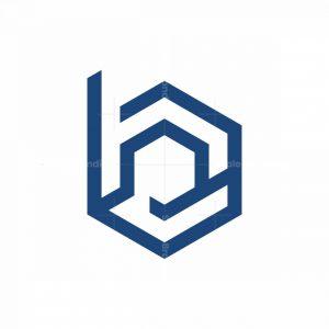B Letter Monoline Logo