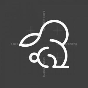 Bunny Rabbit Letter B Logo