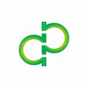 Letter Dp And Omega Logo