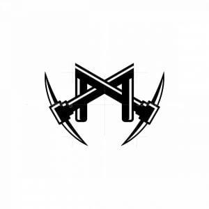 Digital Mining Letter M Logo
