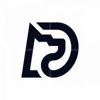 Dog Letter D Logo