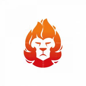 Fire Lion Head Logo