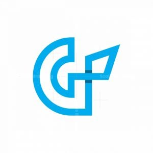 Letter G And Spear Logo